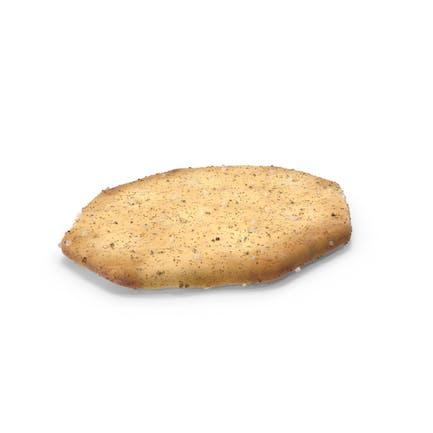 Cracker octágono con condimento