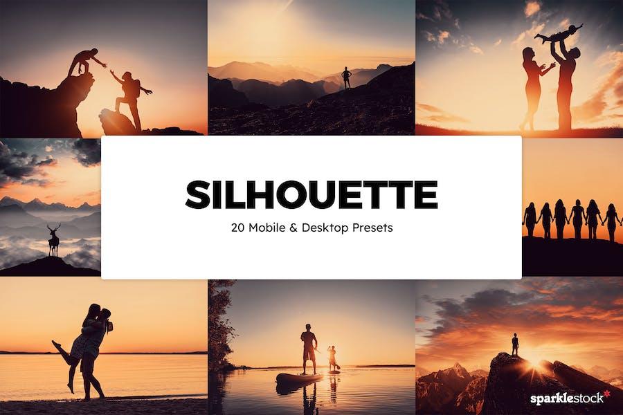 20 Silhouette Lightroom Presets & LUTs