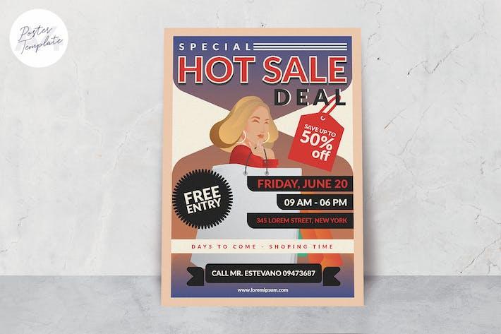 Thumbnail for Plantilla de póster de venta de tienda