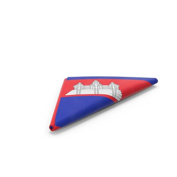 Flag Folded Triangle Cambodia