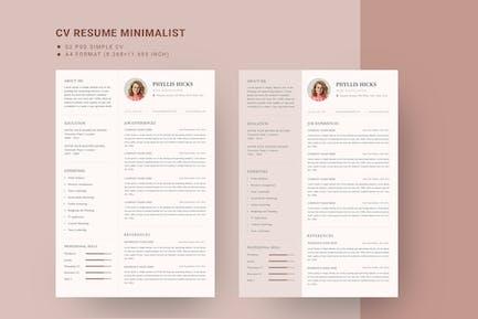Girly CV Resume Template