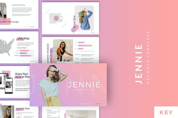 Thumbnail for Jennie - Fashion Style Keynote Template