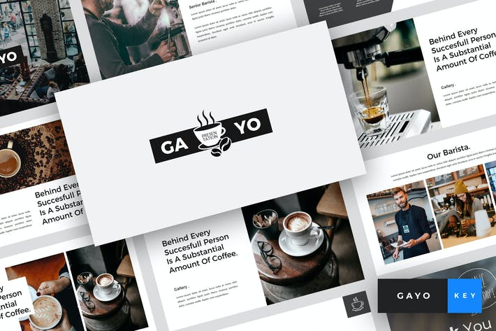 Thumbnail for Gayo - Coffee Shop Keynote Template