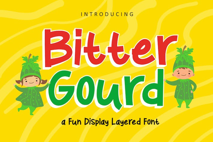 Thumbnail for Bitter Ground - Fun Display Font