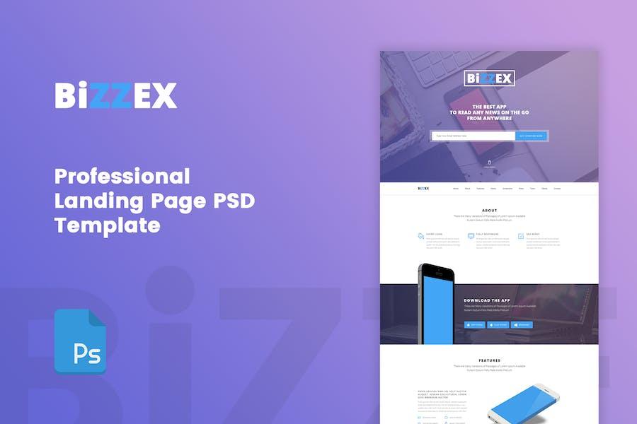 BiZZEX - Professional App Landing Page