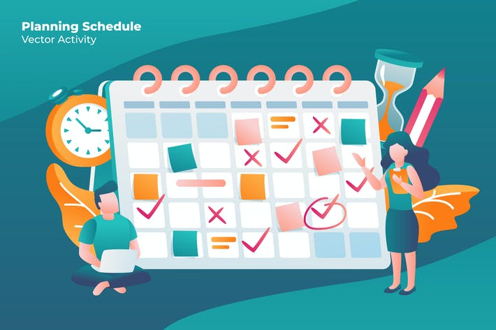 Thumbnail for Planning Schedule - Vector Illustration