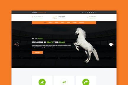 Horse Rider - PSD Template
