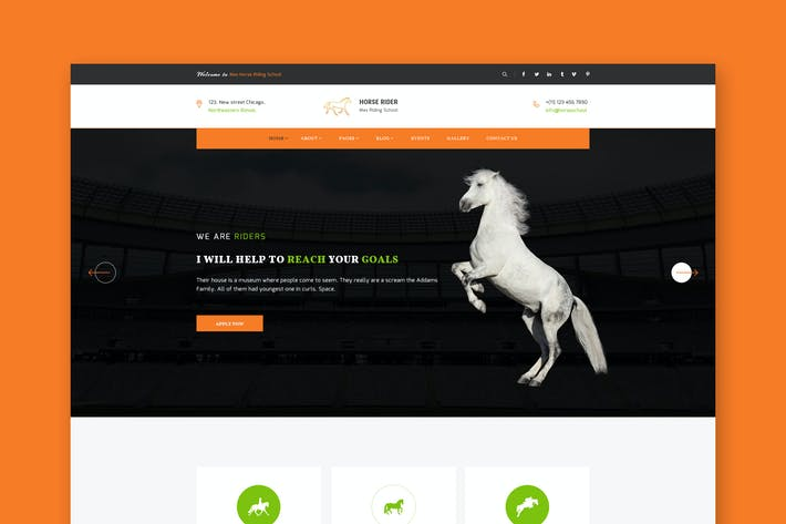Thumbnail for Horse Rider - PSD Template