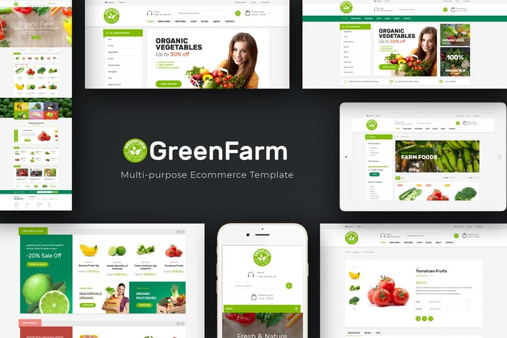 Thumbnail for Greenfarm - Organic & Food Prestashop Tema