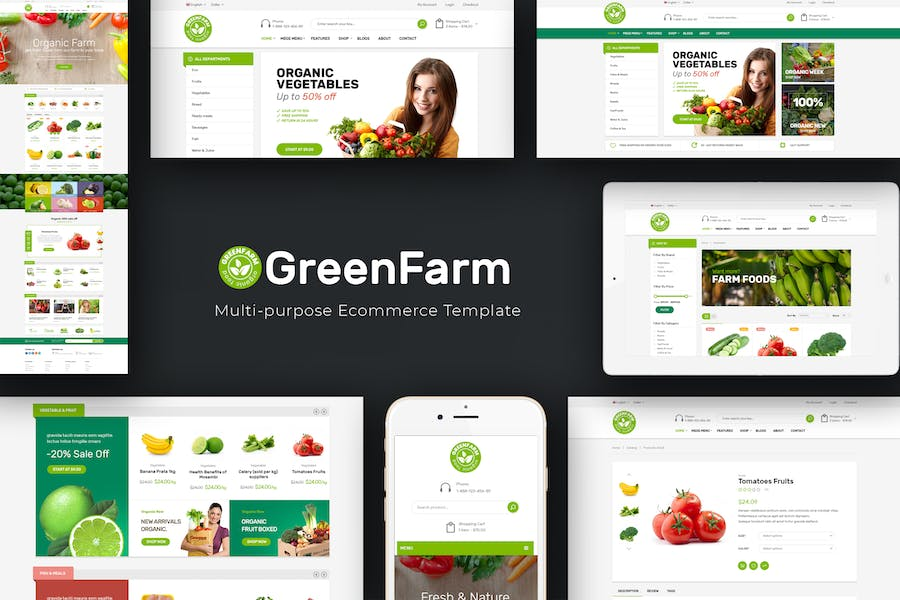 Greenfarm - Organic & Food Prestashop Theme