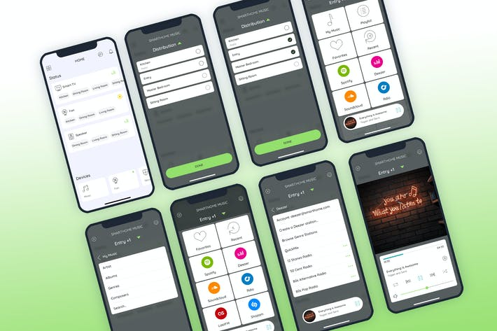 Music Smarthome Mobile UI - FP