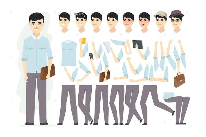 Thumbnail for Hombre chino - constructor de personajes de dibujos animados