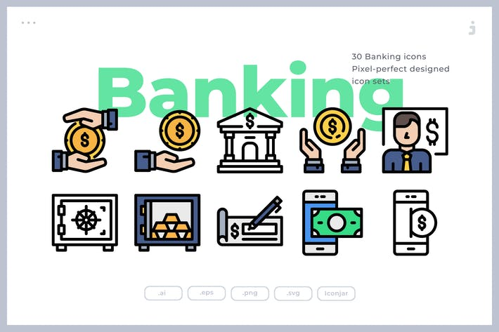 Thumbnail for 30 Bank and Finance Icons
