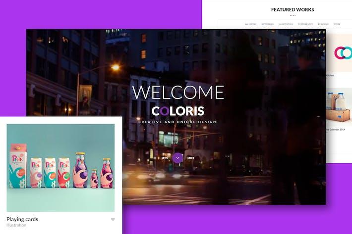 Thumbnail for Coloris - Premium Portfolio HTML Template