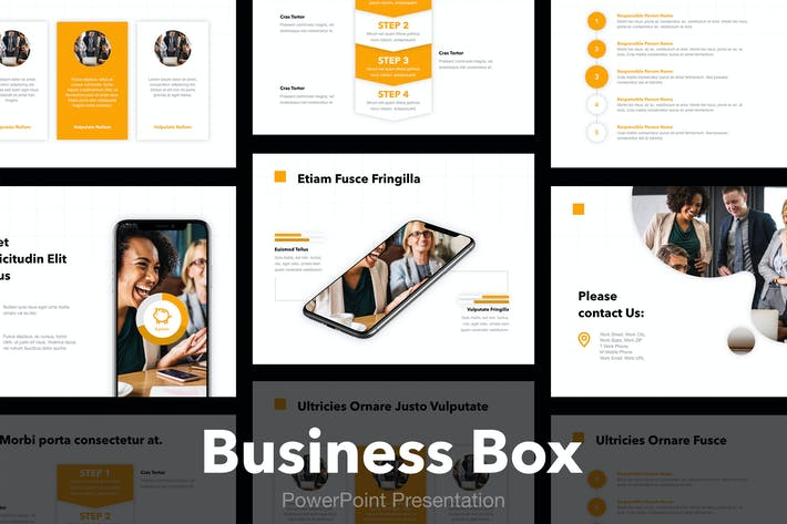 Thumbnail for Business Box PowerPoint Template