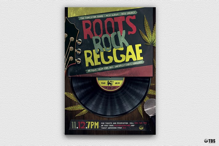 Thumbnail for Roots Rock Reggae Flyer Template