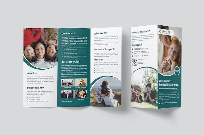 Simple Health Insurance Trifold Brochure