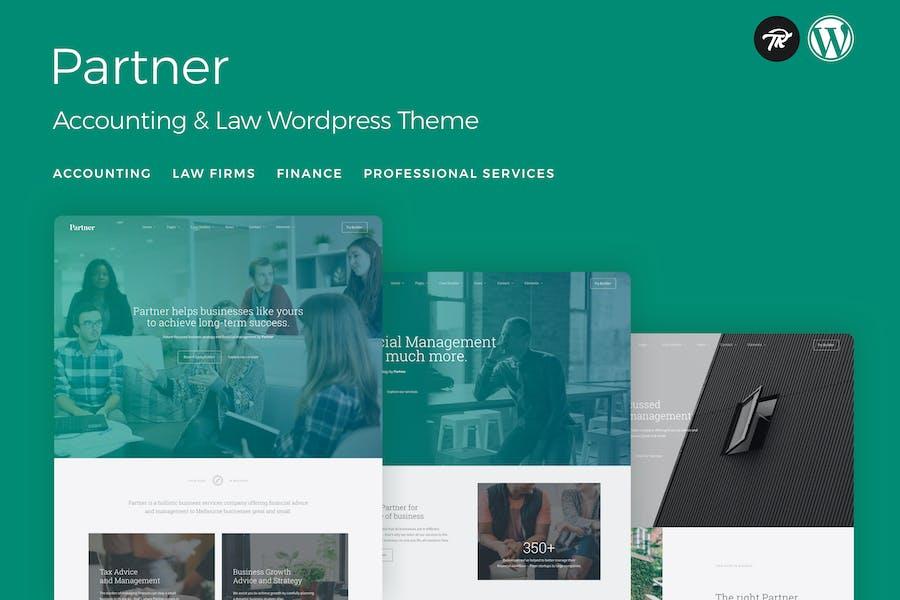 Partner - Buchhaltung und Recht WordPress Thema