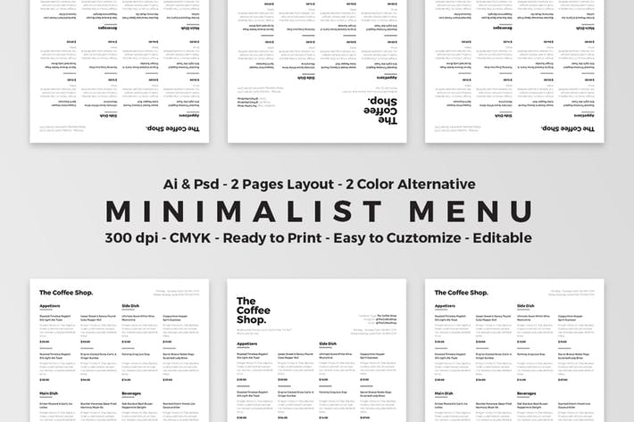 Thumbnail for Minimalist Food Menu