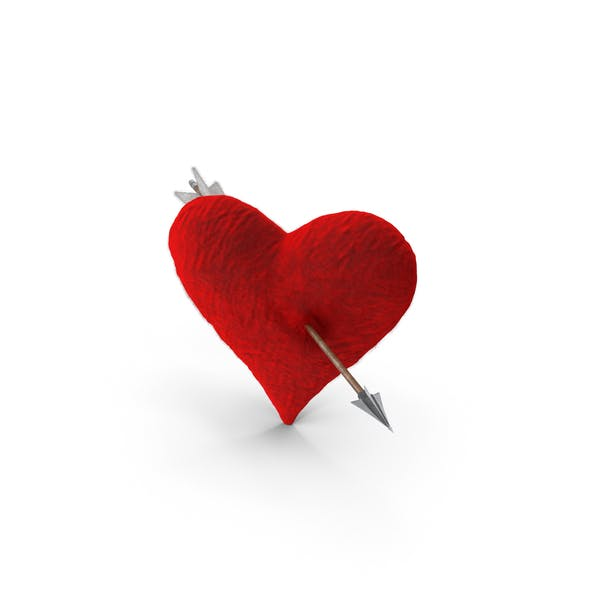 Cover Image for Plush Heart With Arrow