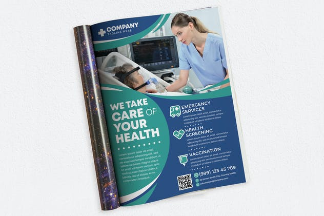 We Take Care of Your Health Ads Magazine