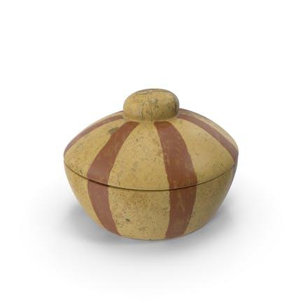 Recipiente de cerámica.