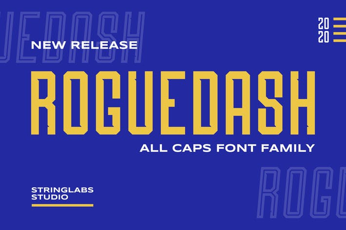 Thumbnail for Roguedash - Stylish Sans Font Family