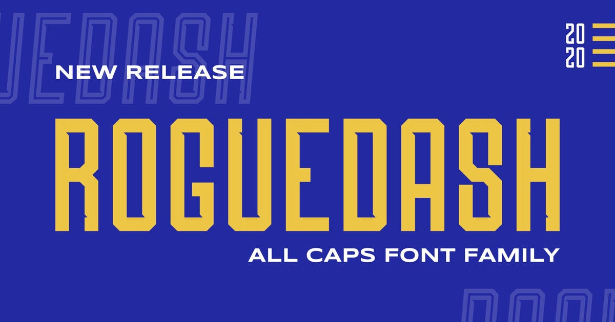 Download Roguedash - Stylish Sans Font Family by StringLabs