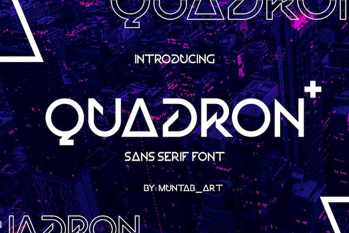 Thumbnail for Quadron | Future Font