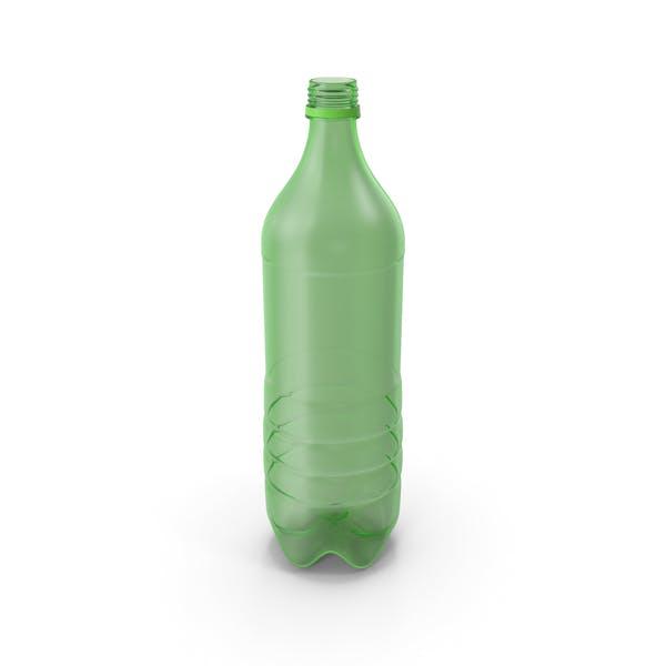 Plastikflasche leer ohne Etikett