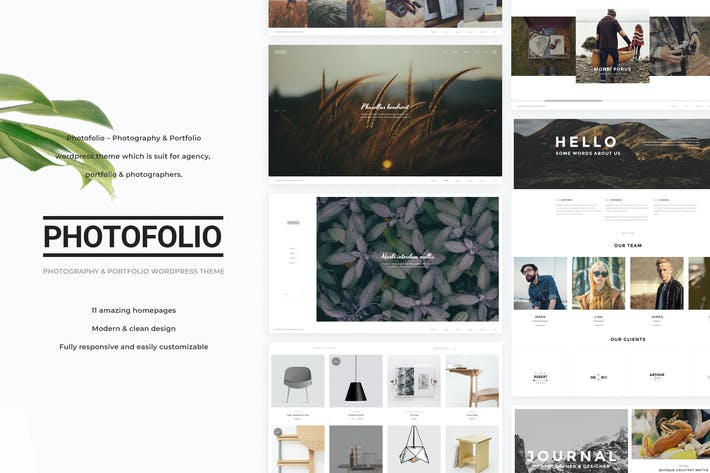 Thumbnail for Photofolio - Photography WordPress Theme