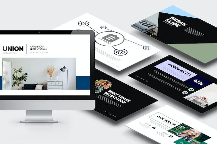 Cover Image For Union : Pitch Deck Powerpoint Template
