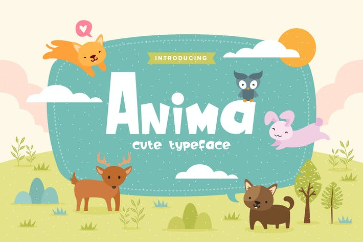 Thumbnail for Anima - Fun Children Typeface