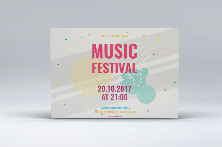 Thumbnail for Colorful Geometric Music Festival Mini Session