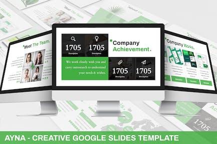 Ayna - Creative Google Slides Template