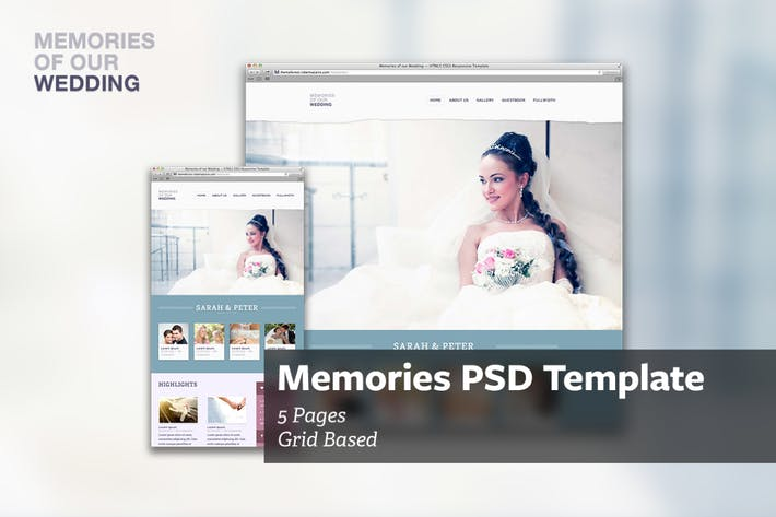 Thumbnail for Memories - PSD Template