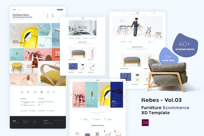Thumbnail for HEBES Vol.03 - мебель Электронная коммерция XD Шаблон