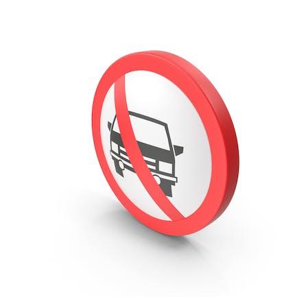 No Cars Verkehrsschild