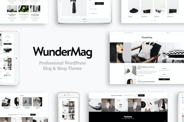 Thumbnail for WunderMag - A Responsive Blog & Shop WordPress