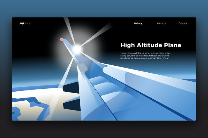 Thumbnail for Plane View - Banner & Landing Page