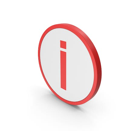 Icon Inverted Exclamation Mark Red