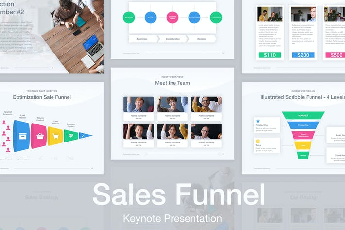 Thumbnail for Sales Funnel Keynote Template