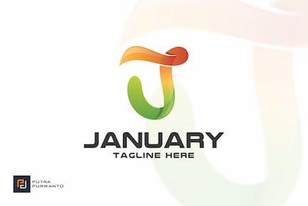 January / Letter J - Logo Template
