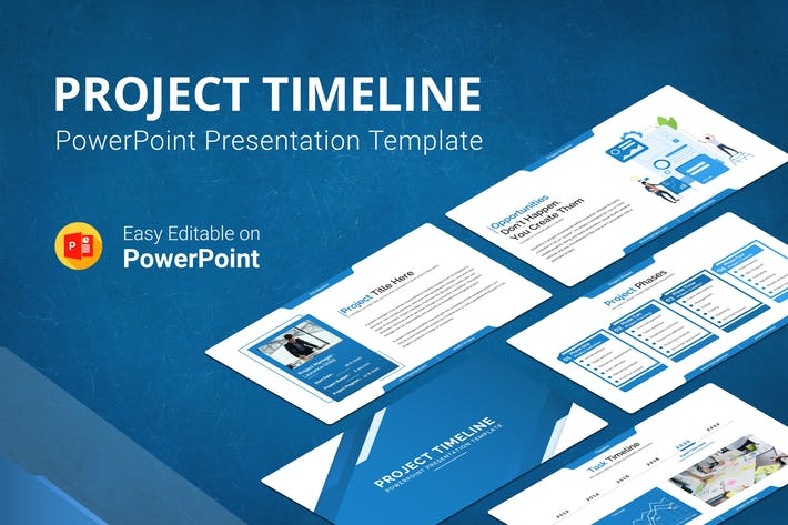 Cover Image For Project Timeline Report Presentation