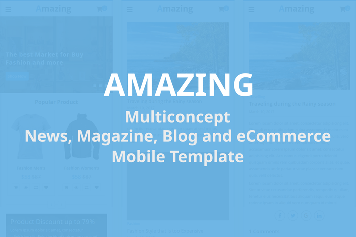 Thumbnail for Amazing - Mobile Template