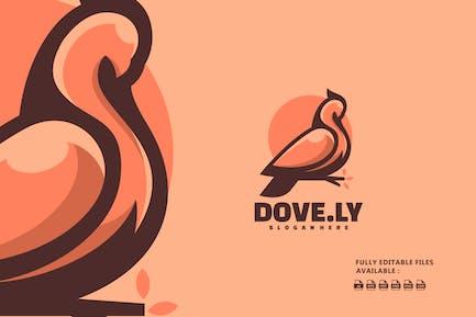 Dove Color Mascot Logo