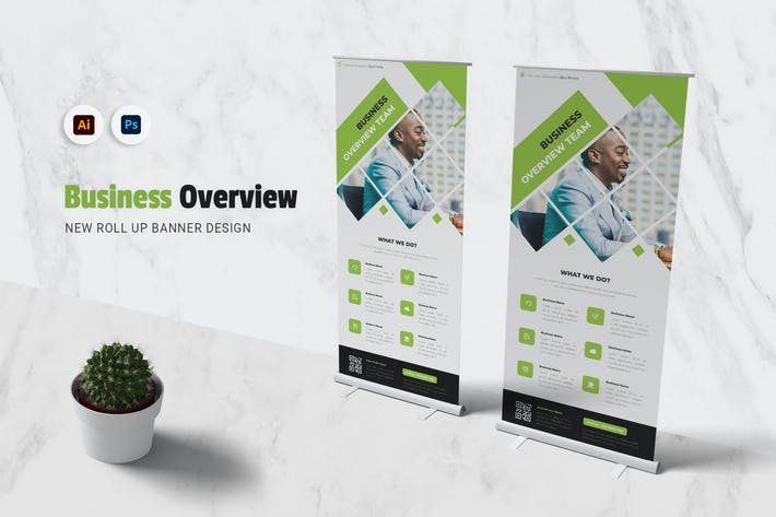 Thumbnail for Business Overview Roll Up Banner