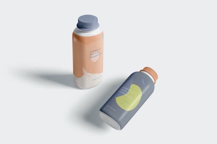 Thumbnail for Cosmetic Bottle Packaging Mockups