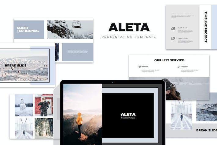 Thumbnail for Aleta : Winter Fashion Style Lookbook Powerpoint