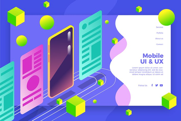 Thumbnail for UI UX Mobile - Banner & Landing Page